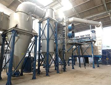 Incinerator with Dry Scrubbing System