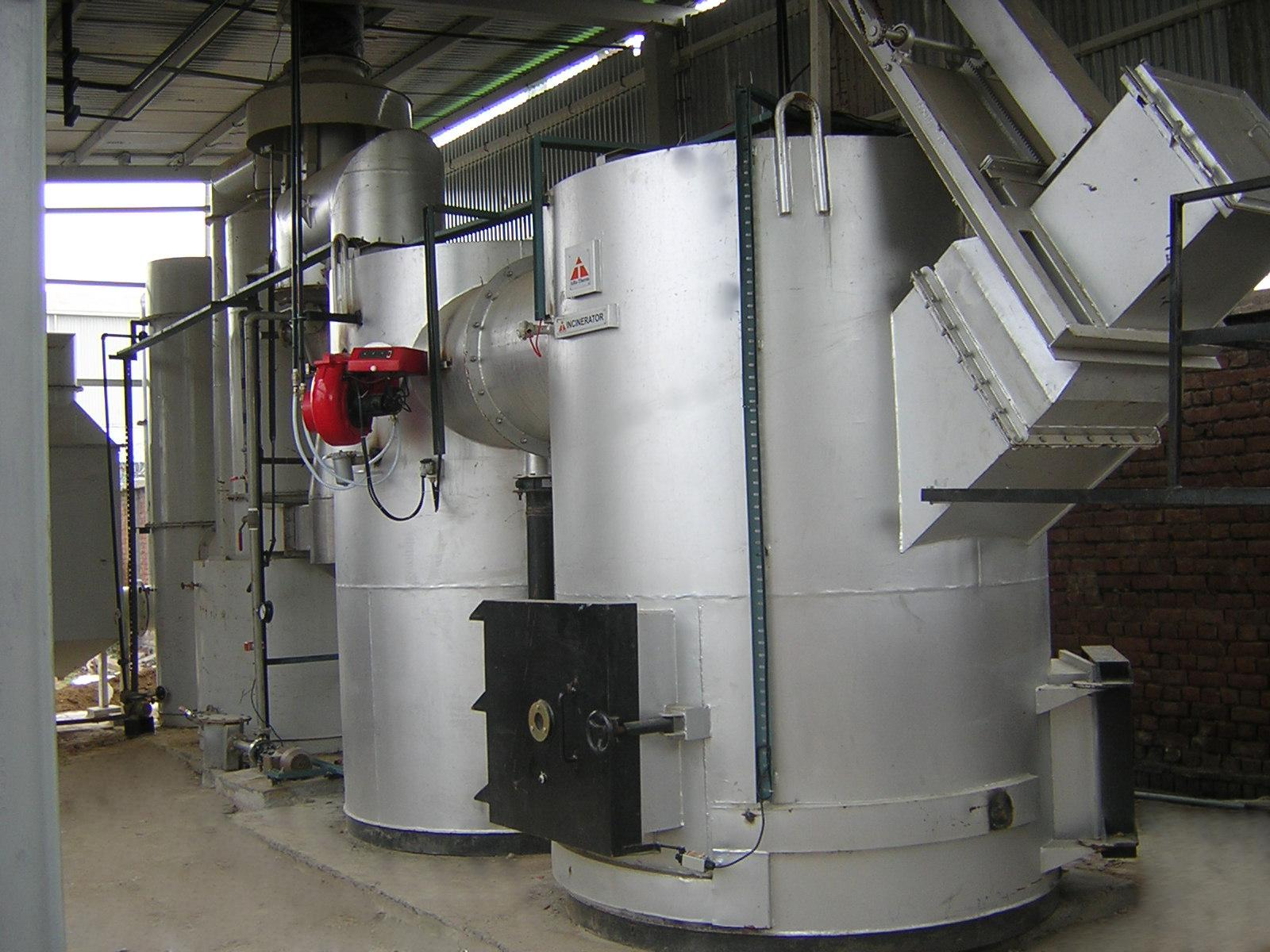 INCINERATOR WITH 3 STAGE SCRUBBER